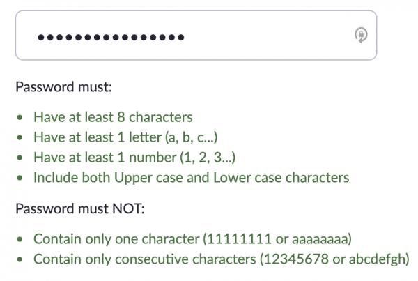 Enter password field prompt