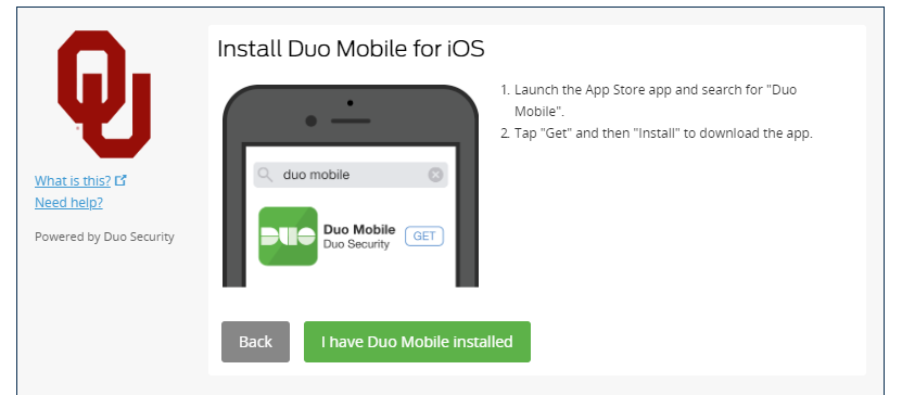 Duo iOS install prompt