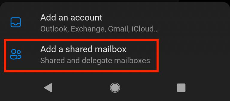 Add a shared mailbox button