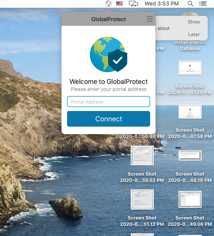 GlobalProtect Launch Screen