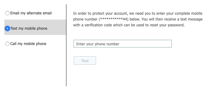 Text number prompt