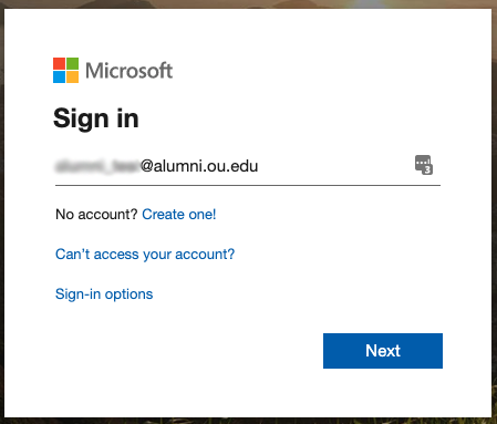 Sign in prompt