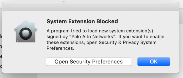 Extension Blocked Prompt