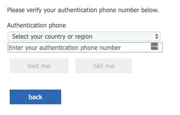 Enter authentication phone prompt