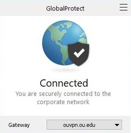 GlobalProtect Connected Screen