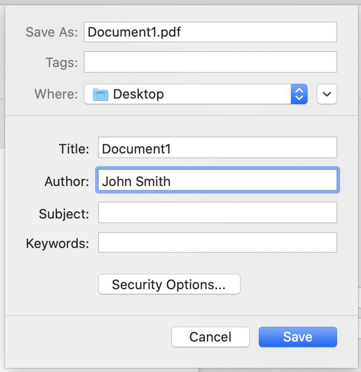 PDF Save Name example