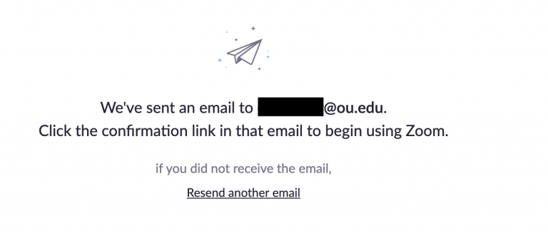 Email has been sent to you message