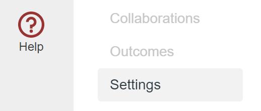 Canvas Course Settings option