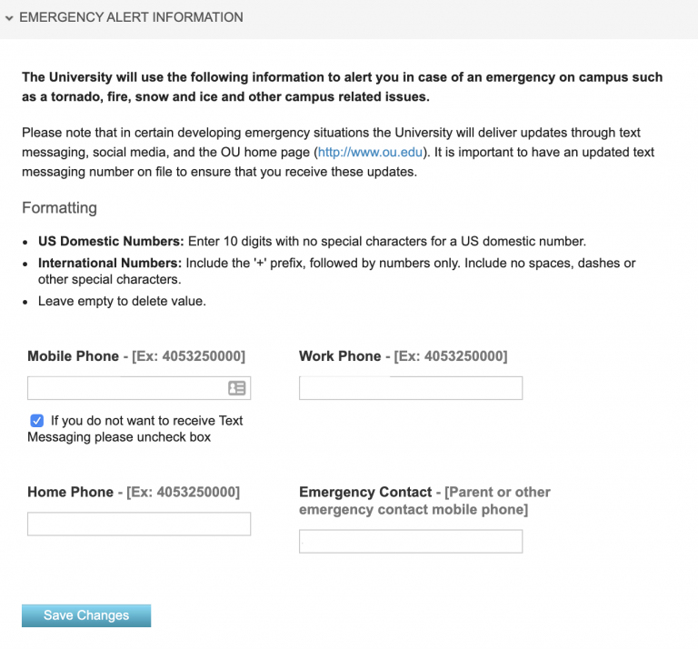 Phone number fields