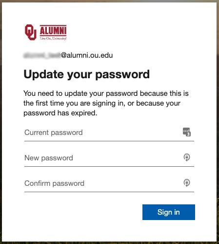 Enter new password prompt