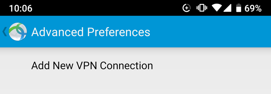 Cisco AnyConnect Program Add New Connection Screen