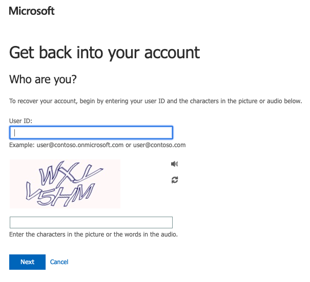 Account recovery prompt