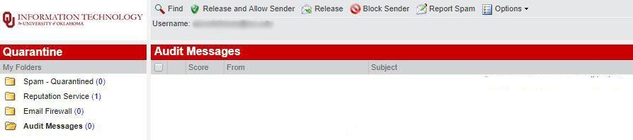 Audit message toolbar