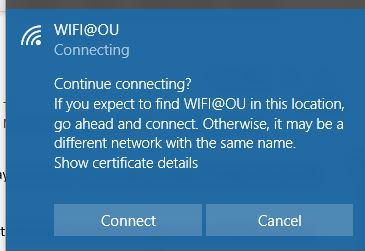 Connect prompt