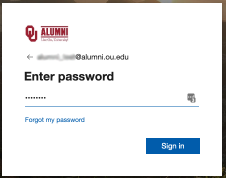 Enter password prompt