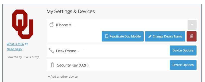 Duo settings prompt