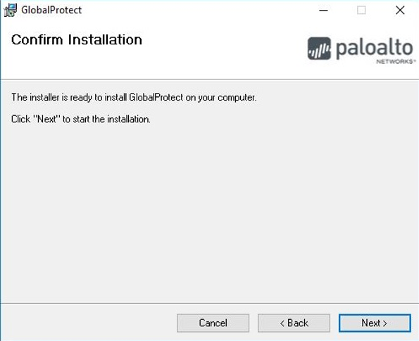 Install Confirm Installation Prompt