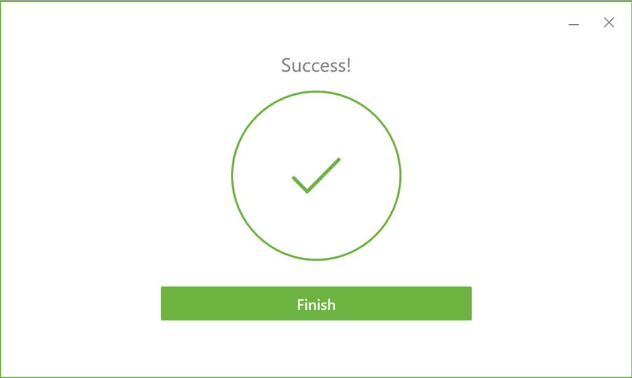 MyDesk Install Success screen